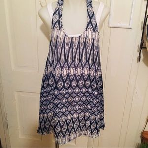 Show Me Your Mumu Tunic -M blue multi , polyester